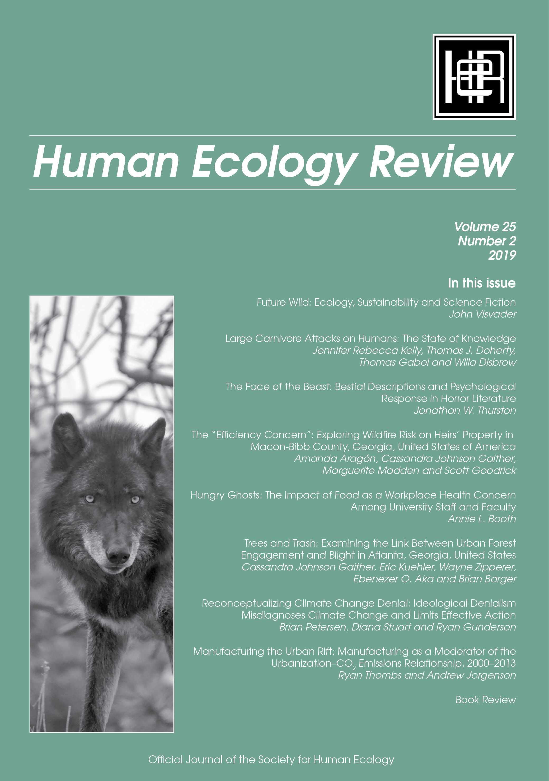 MSU Sociology/ Animal Studies dominate latest HER issue